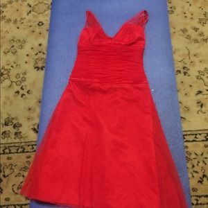 Red AFTER SIX dress